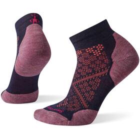 Smartwool Run Targeted Cushion Low Cut Calcetines Running Mujer, azul/rosa